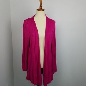 Avenue Pink Open Front Cardigan Sweater